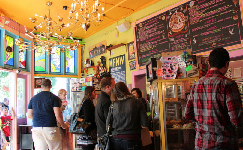 Inside Voodoo Donuts in Portland Oregon
