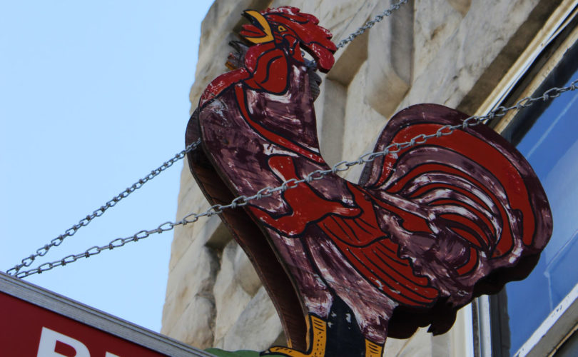 Red Rooster Cafe Sign