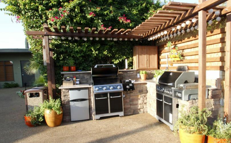 Outdoor Kitchen at the Desert Riviera Hotel