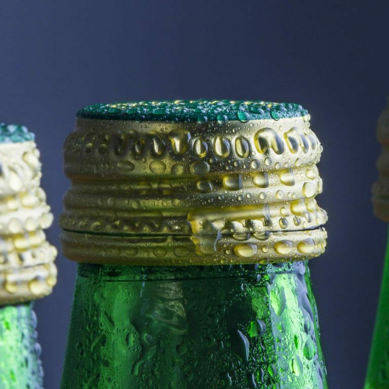 Sparkling water bottles