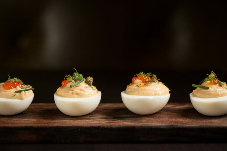 Photo of SOLD OUT Truffle & Chive Deviled Eggs