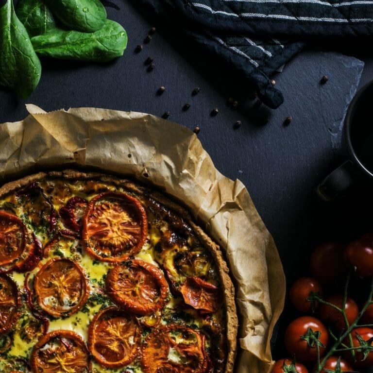 Photo of Roasted Vegetable & Ricotta Tart