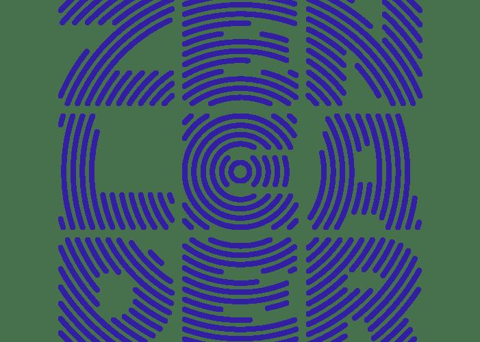 small radial Zen Leader logo in blue