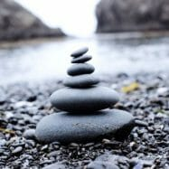 small rocks stacked