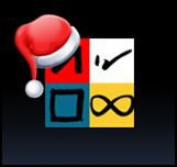 FEBI logo with Santa hat