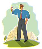 man with flexed arm