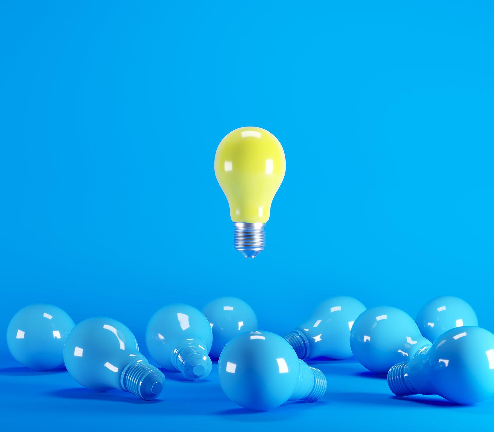 Lightbulb light amongst others