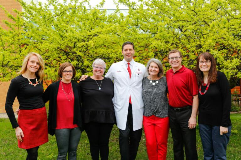 The Clinical Eye Research Unit Team: Nickie Stangel, Angie Adler, Kristine Dietzman, Dr. Mihai Mititelu, Jennie Perry-Raymond, Christopher Smith, and Bonnie Verges.