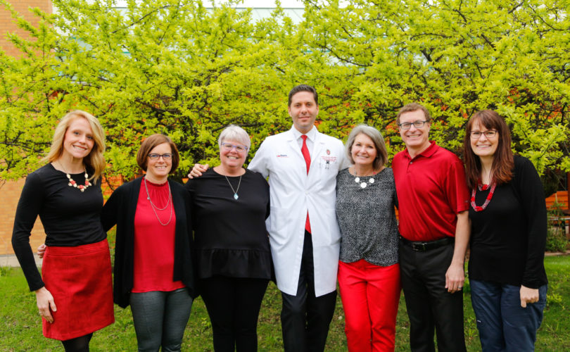 The Clinical Eye Research Unit Team: Nickie Stangel, Angie Adler, Kristine Dietzman, Dr. Mihai Mititelu, Jennie Perry-Raymond, Christopher Smith, and Bonnie Verges.