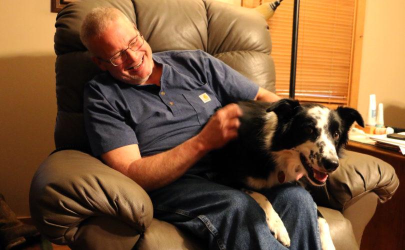 Dave Seamons and dog