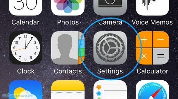 Settings Button on iOS