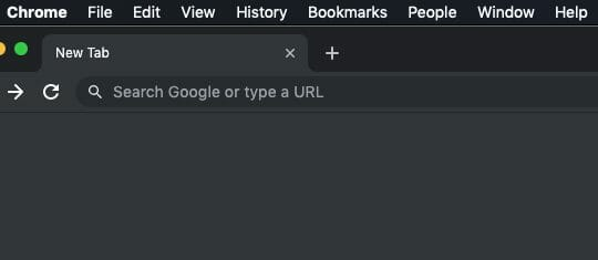 Google Chrome Desktop Menu Tab