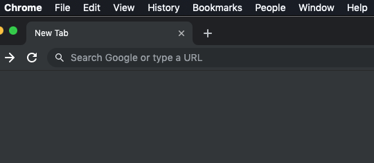 Google Chrome Desktop Menu Tab