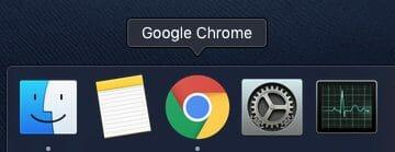 Google Chrome icon in menu bar