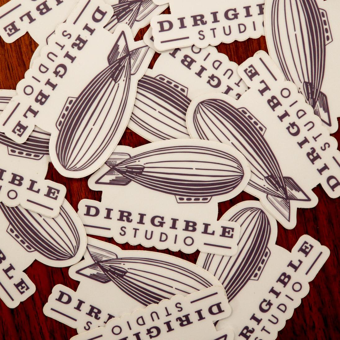 Dirigible Studio Logo Stickers