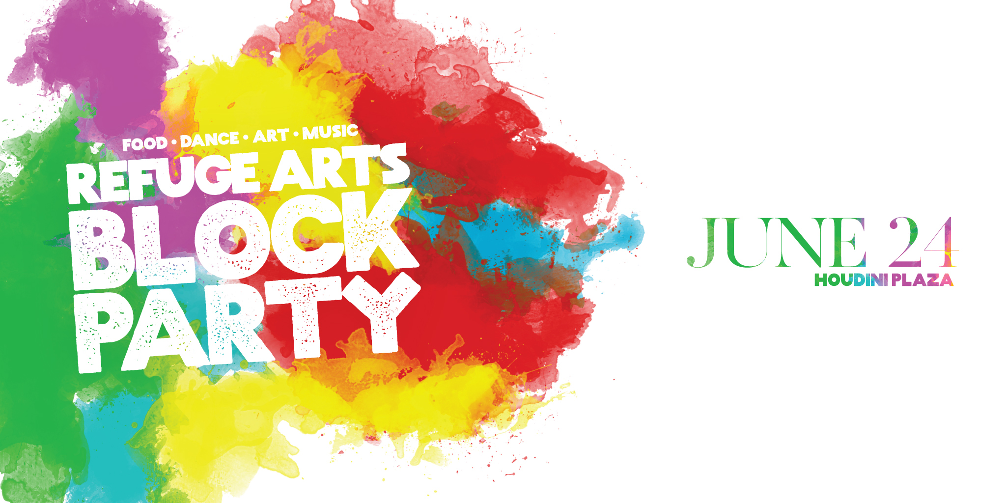 Block Party horizontal Banner