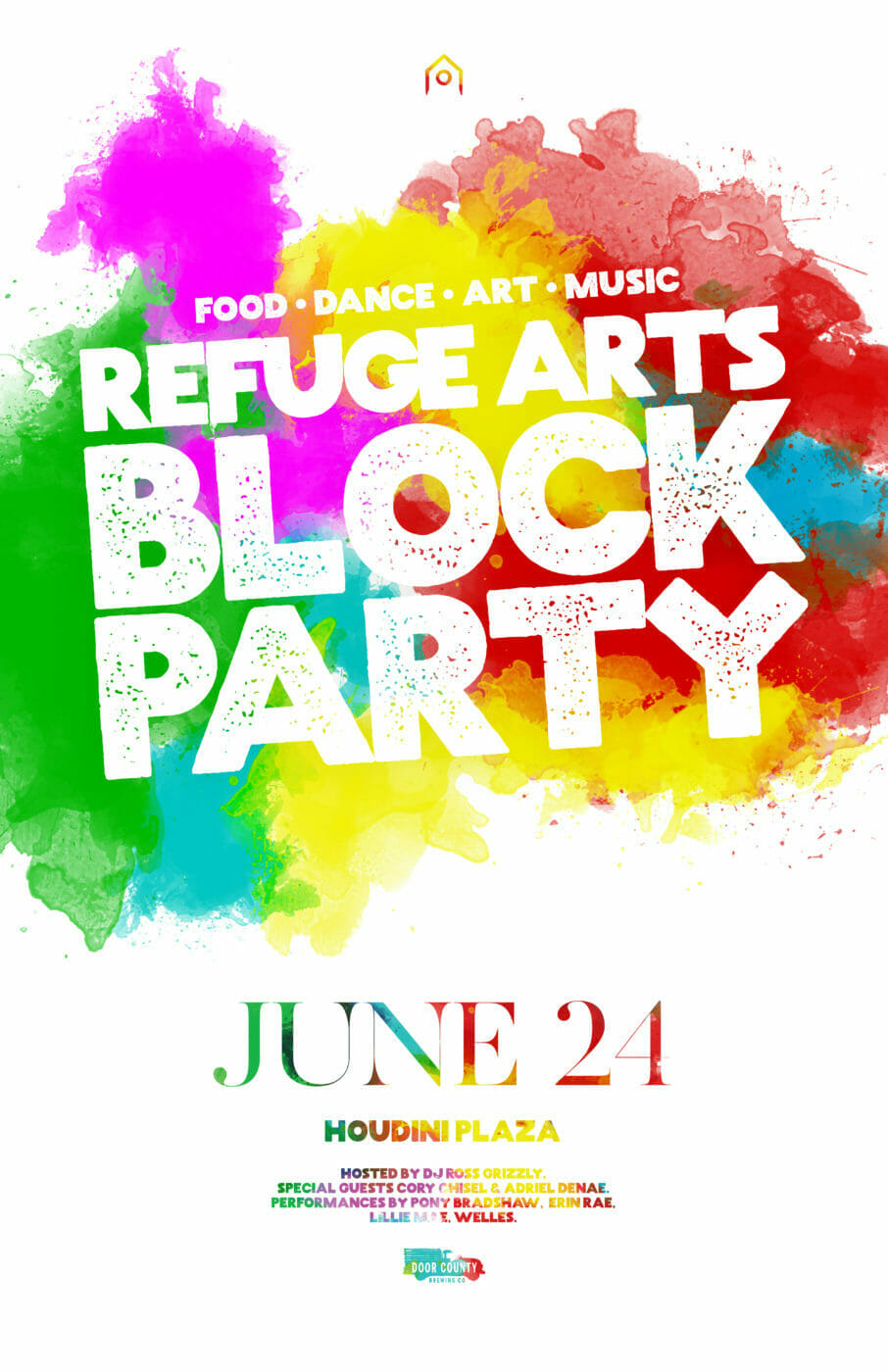 Refuge Block Party Poster