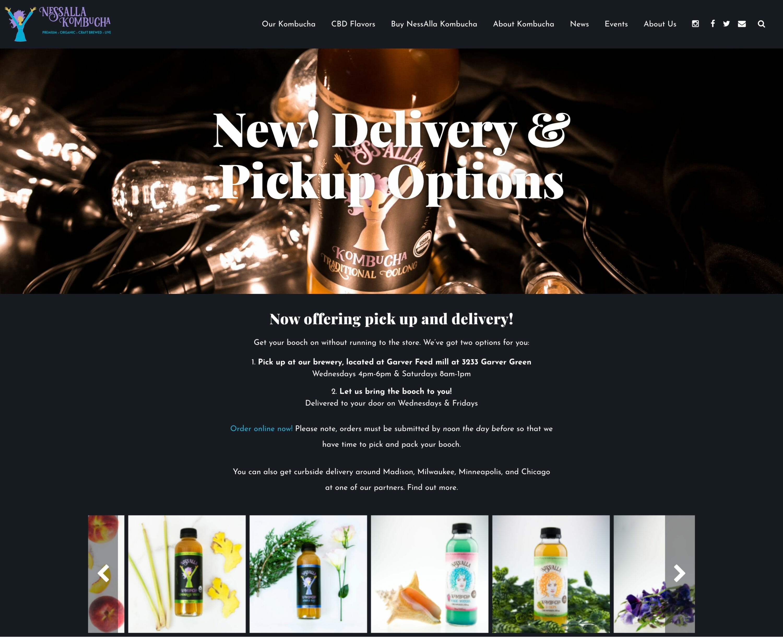NessAlla Kombucha Website Redesign