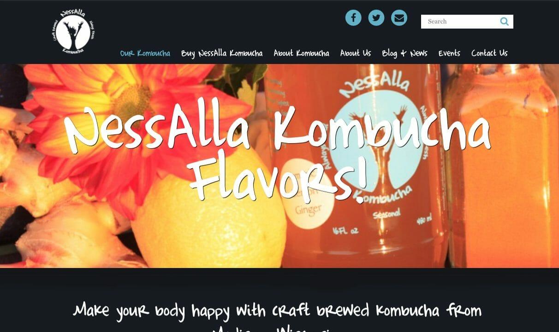 NessAlla Kombucha Custom Website