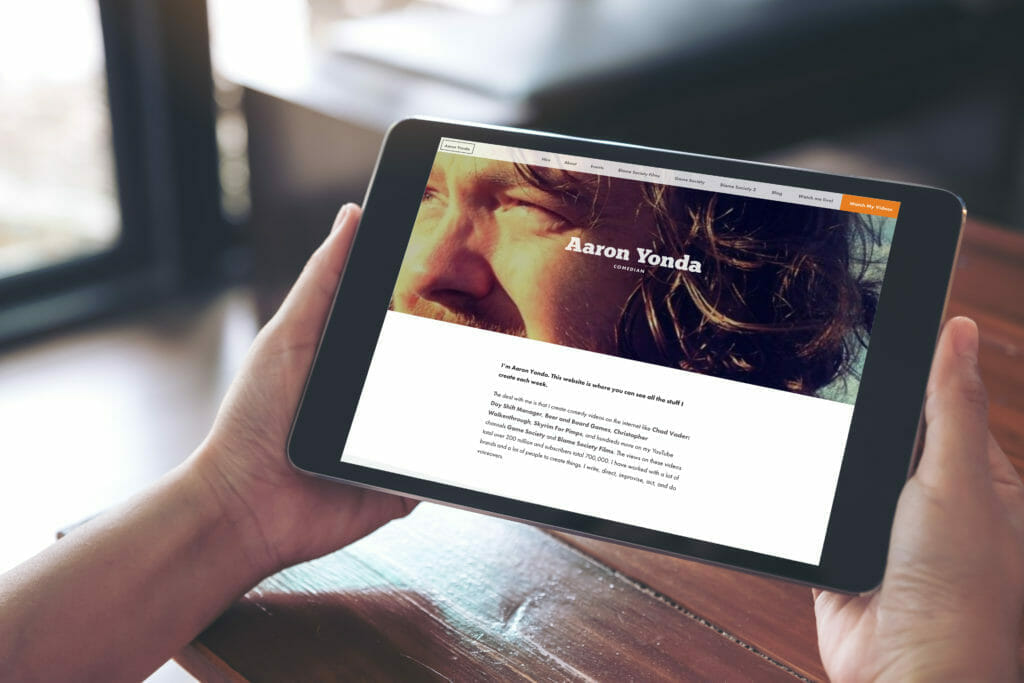 Aaron Yonda Responsive Website