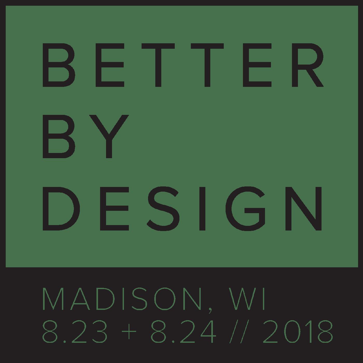 Better By Design Logo, Modern Square Logo