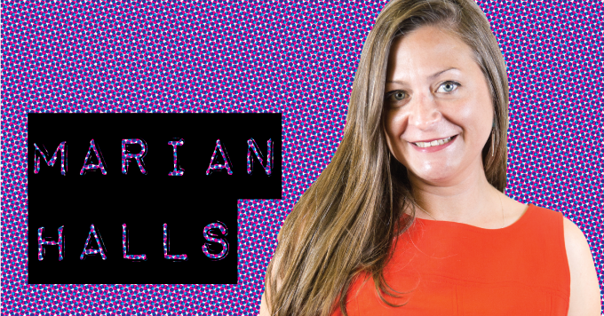 Marian Halls, cast member with Monkey Business Institute