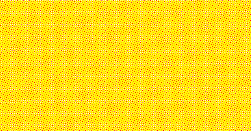 Monkey Business Institute yellow Ben Day dots background