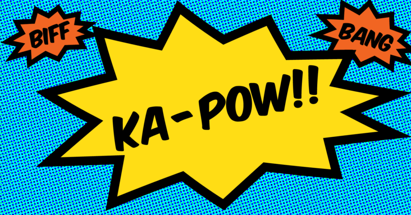 BIFF! BANG! KA-POW!!! logo, a show created by Monkey Business Institute
