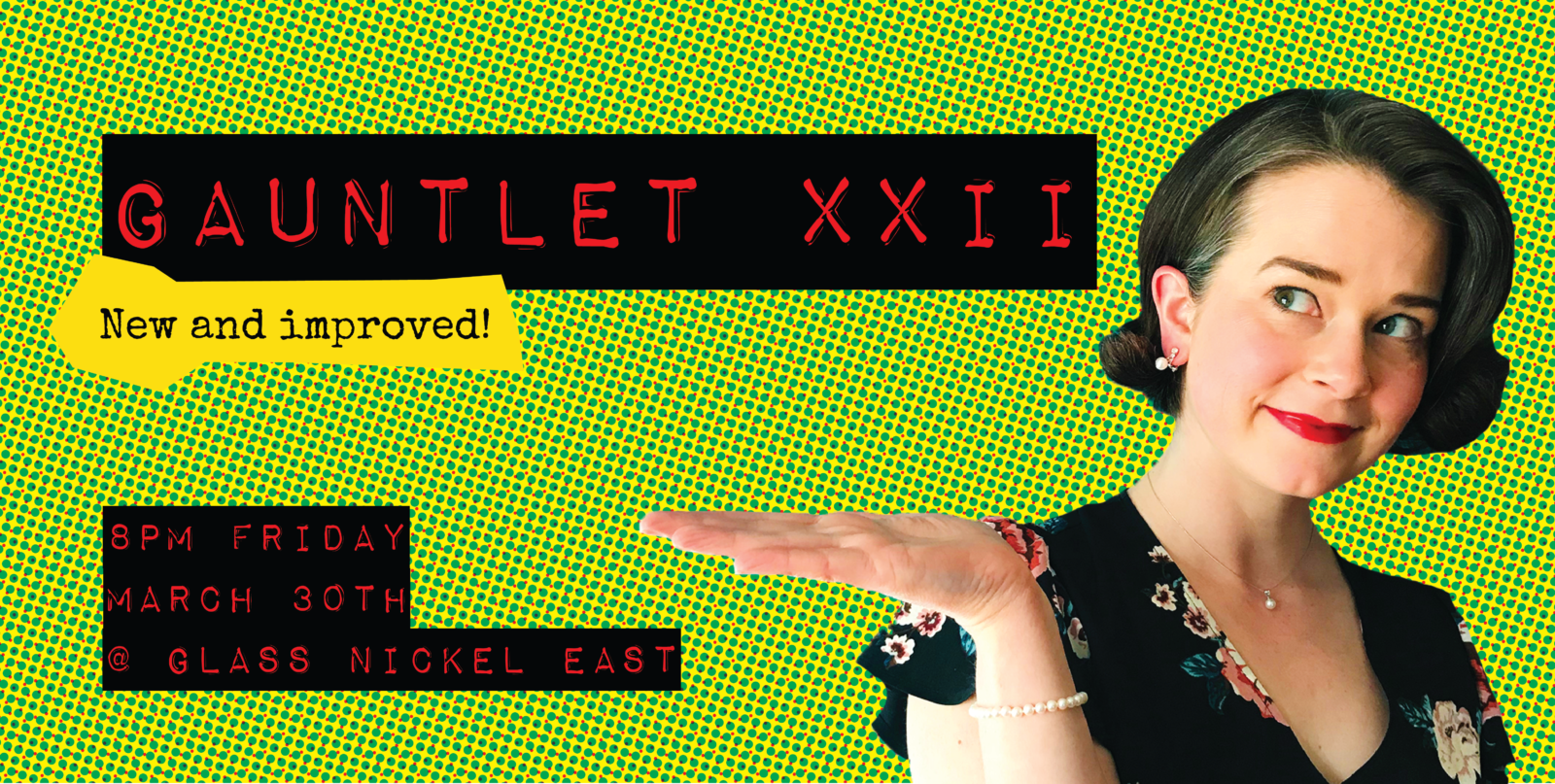 The Gauntlet XXII: New and Improved artwork green
