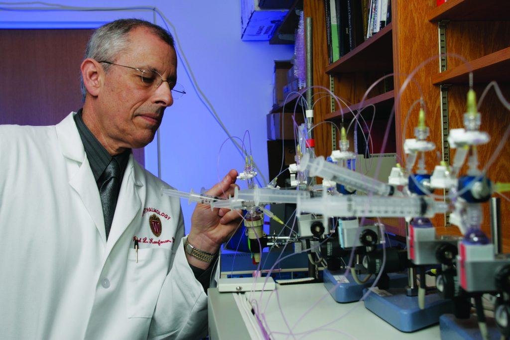 Dr. Paul Kaufman in lab