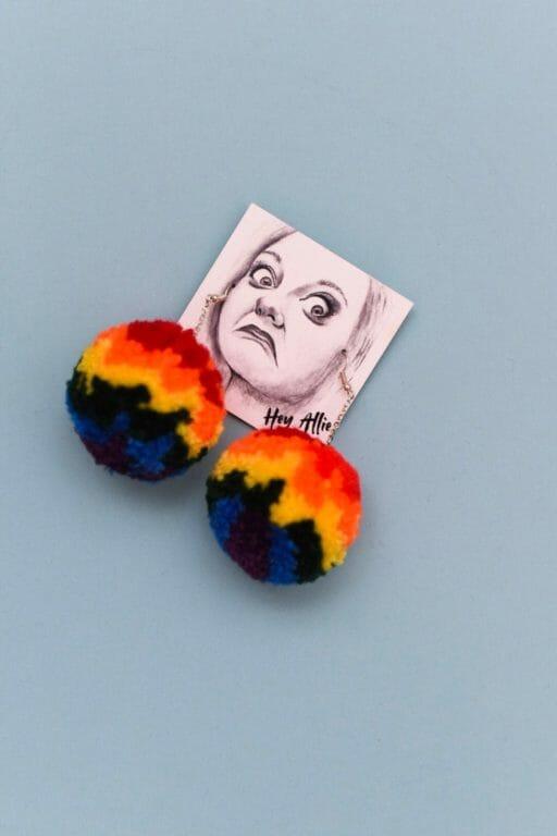 Photo of Rainbow PRIDE Atomic Poms