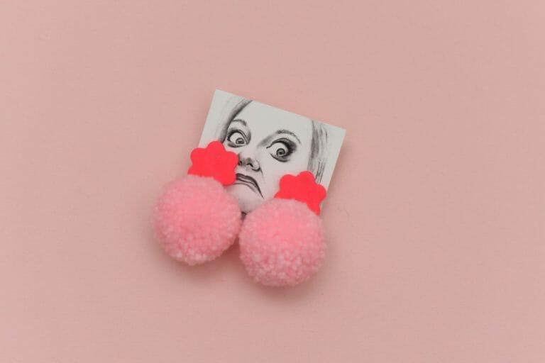 Photo of Flower Power Pom Earrings
