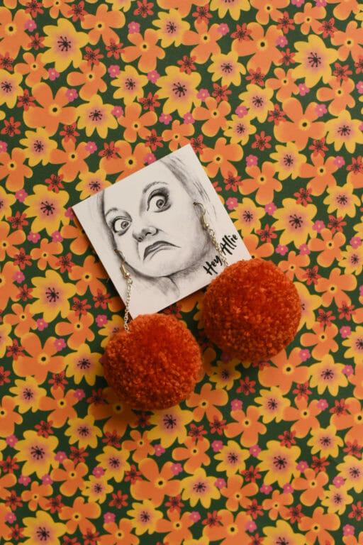 Photo of Burnt Orange Atomic Pom (small)