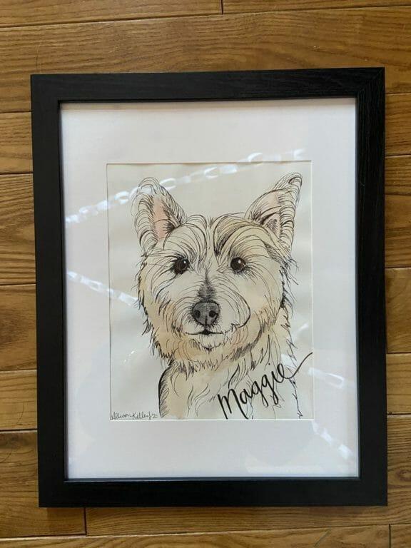 Photo of Custom Watercolor Pet Painting