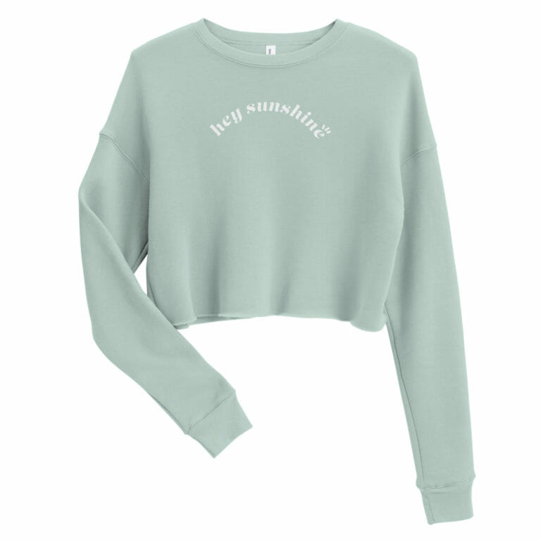 Photo of Hey Sunshine Crop Sweatshirt