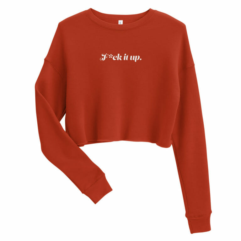 Photo of F*ck it up Crop Sweatshirt
