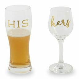 Photo of His & Hers Beer/Wine Set