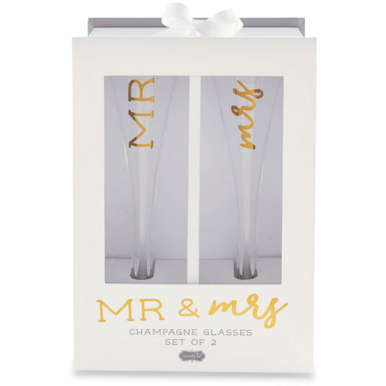 Photo of Mr. & Mrs. Champagne Glass Set