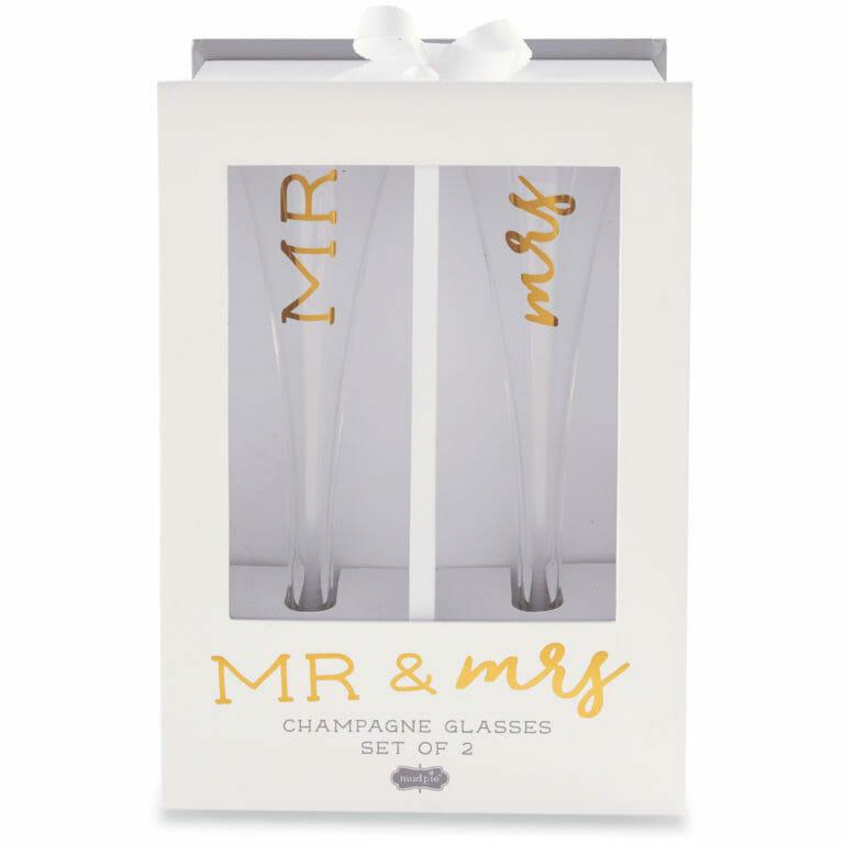 Photo of Mr. & Mrs. Champagne Glass Set
