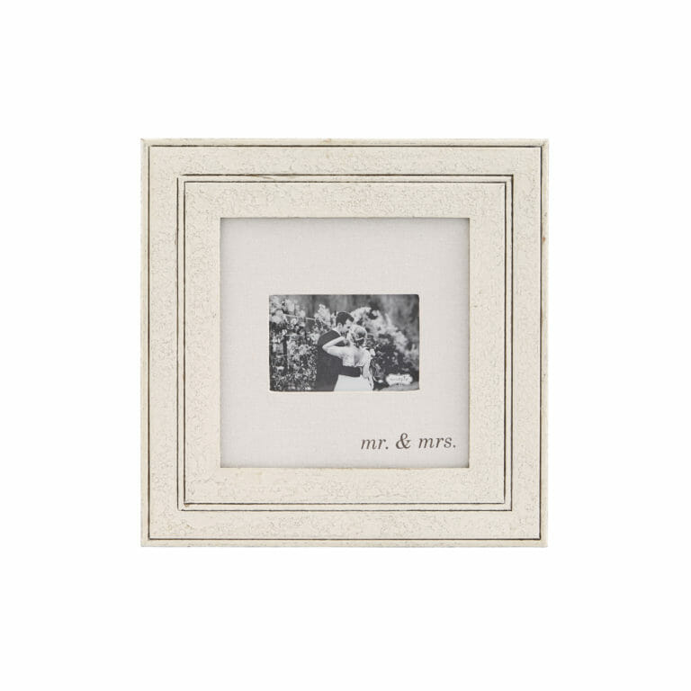 Photo of Mr. & Mrs. Wood and Linen Frame