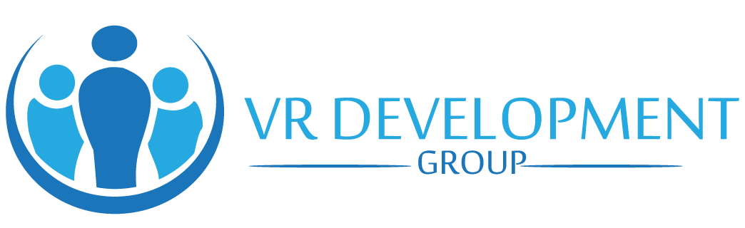 Logo for VR Development Group.