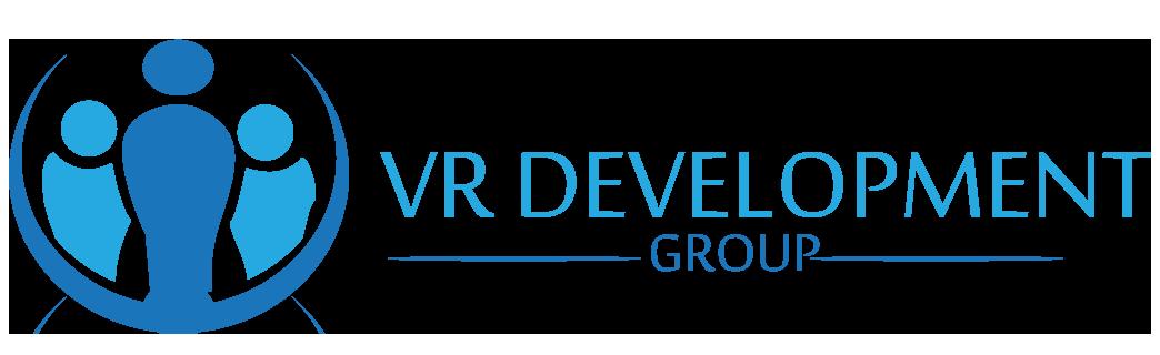 Logo for VR Development Group.