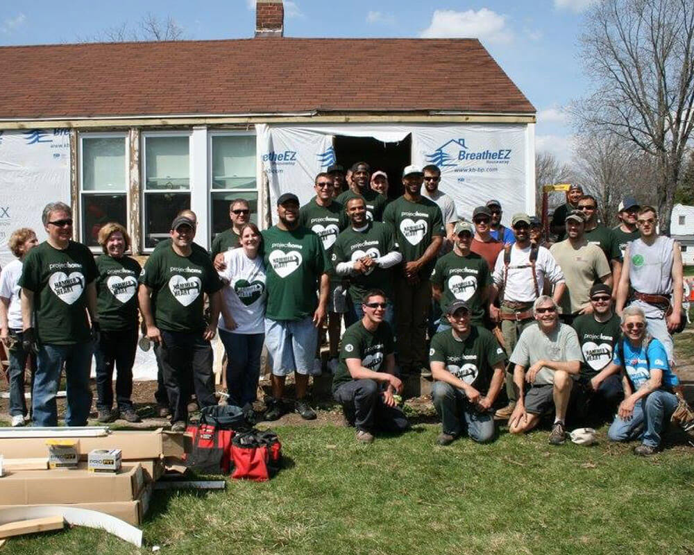 TDS Custom Construction employees volunteering at the 14th Annual Hammer with Heart