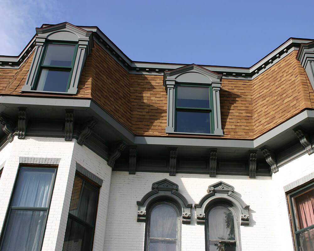 Unique historic preservation of a 1880's Second Empire Victorian home in Portage, WI.