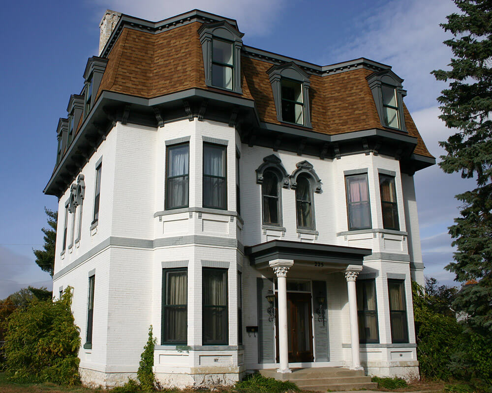 Historic restoration and preservation of the third floor of an 1880's Second Empire Victorian home by TDS Custom Construction.
