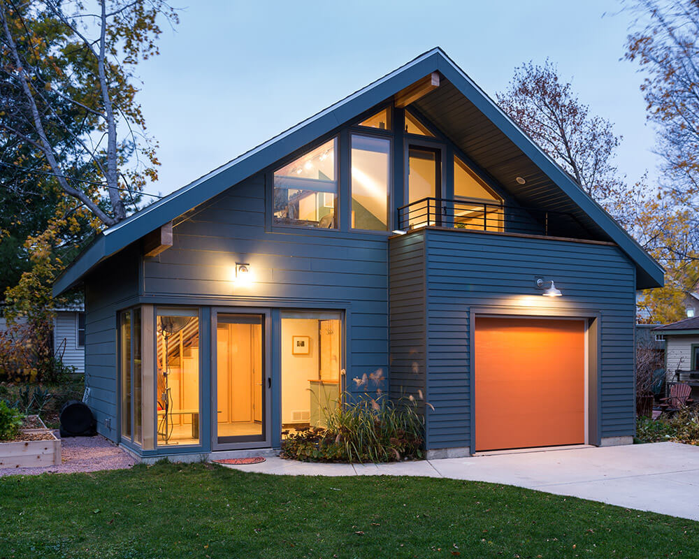 New construction accessory dwelling unit (ADU) garage and workshop by TDS Custom Construction in Madison, WI.