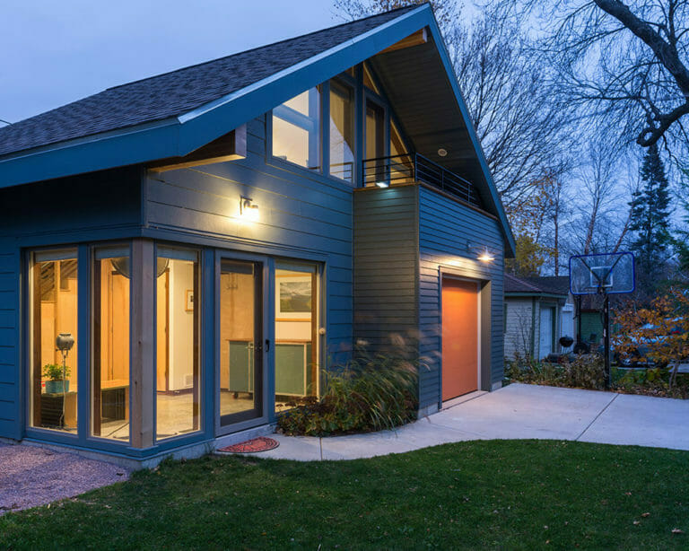 New construction accessory dwelling unit (ADU) garage and workshop by in Madison, WI.