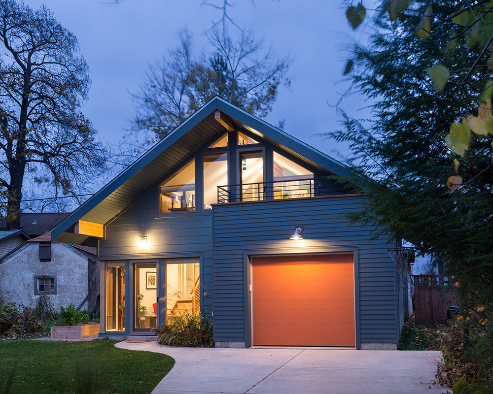 Custom designed and custom built new construction garage and workshop by TDS Custom Construction in Madison, WI.