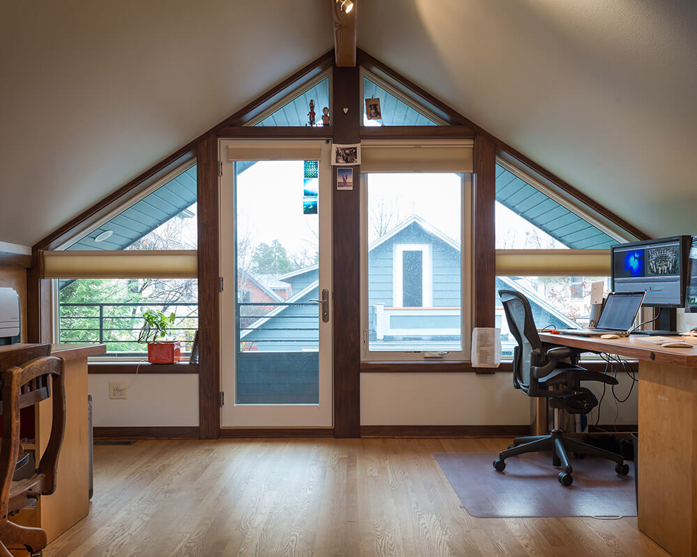 New construction accessory dwelling unit (ADU) garage and studio space by in Madison, WI.