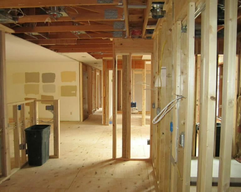 Process photograph of the TDS Custom Construction interior renovation to a 1970's ranch home.